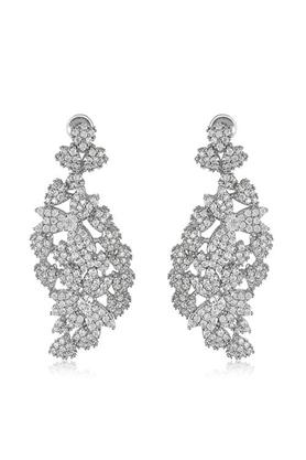 Womens Zirconia Studded Drop Earrings