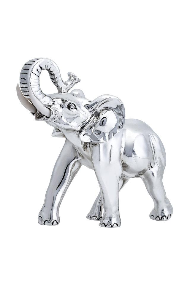 Unisex Silver Plated Elephant Art Accessories