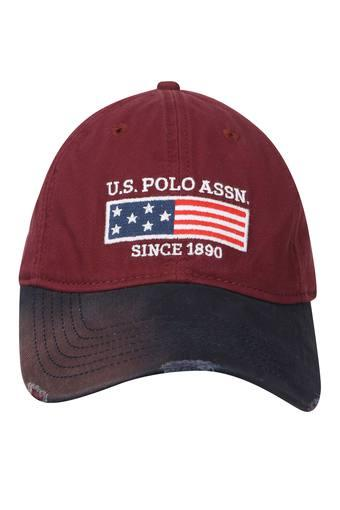 Mens Colour Block Applique Cap