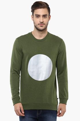 UNITED COLORS OF BENETTONMens Round Neck Printed Sweatshirt