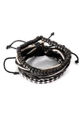 Mens Black Leather Bracelet