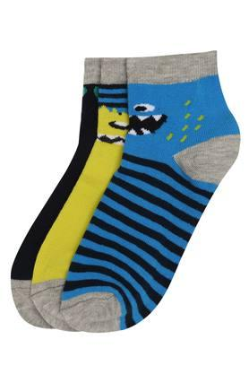 Boys Solid and Stripe Socks Pack of 3