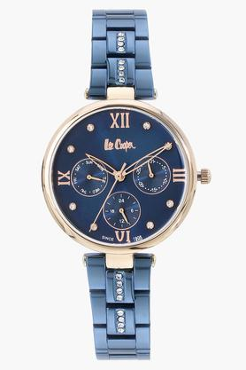 Womens Analogue Blue Dial Metallic Watch - LC06667490