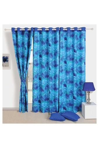 Floral Print Window Curtain