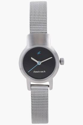 Fastrack Black Dial Metal Strap Watch - NJ2298SM03C image