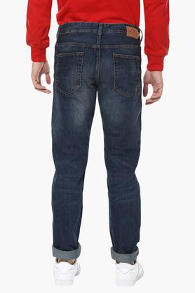 Mens Straight Fit Mild Wash Jeans