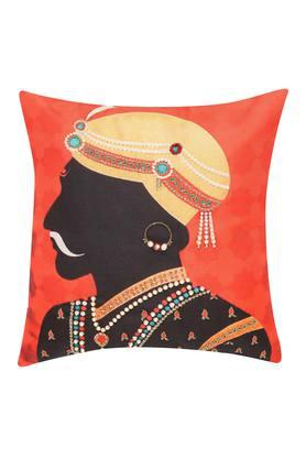 Square Raja Printed Embroidered Cushion Cover