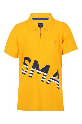 Boys Graphic Print Polo Tee