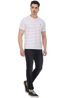 7e86788ea9 Buy NAUTICA Mens Round Neck Striped T-Shirt | Shoppers Stop