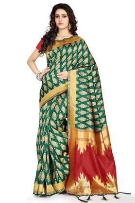 DEMARCA Womens Banarasi Silk Art Silk Designer Saree