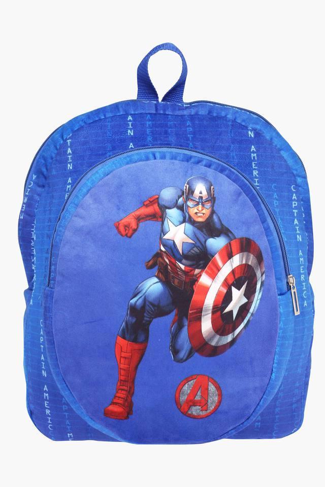 Unisex Zipper Closure Captain America Backpack