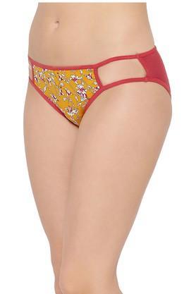 Womens Floral Print Bikini Briefs