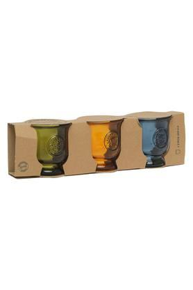 BACK TO EARTH Round Solid Candle Votive Set Of 3