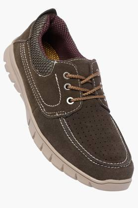VENTURINIMens Suede Lace Up Casual Shoes
