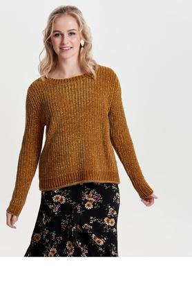 ONLYWomens Round Neck Slub Pullover