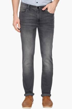 LEE Mens Skinny Fit Heavy Wash Jeans (Bruce Fit) - 202985583