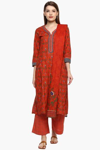 3a137e250ea Buy BIBA Womens V- Neck Printed Palazzo Suit