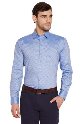 Mens Slim Fit Dot Pattern Formal Shirt