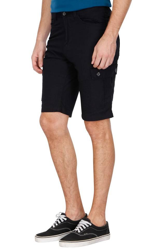 Mens 7 Pocket Solid Shorts
