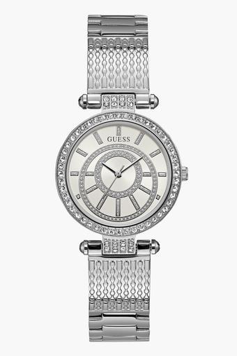 46f80c3d0 Buy GUESS Womens Analogue Metallic Watch - W1008L1 | Shoppers Stop