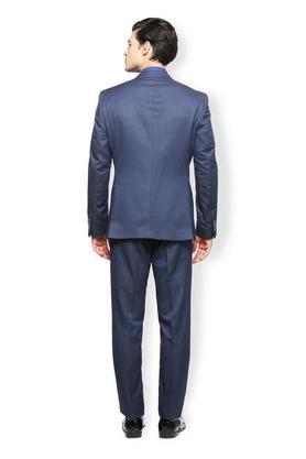 Mens Notched Lapel Slub Suit