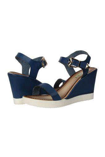 WET BLUE -  Navy Platform & Wedges - Main