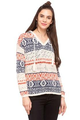ONLY Womens Hooded Printed Pullover