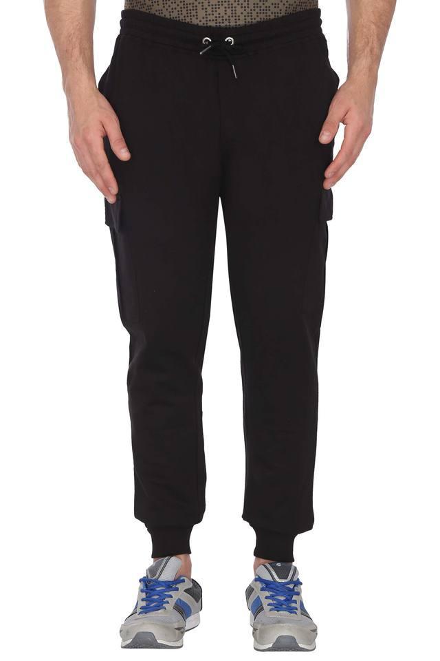 Mens 6 Pocket Solid Track Pants