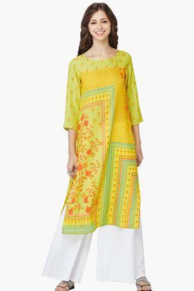 GLOBAL DESI Womens Floral Print Kurta