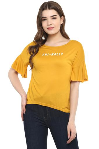 RS BY ROCKY STAR -  Mustard Tops & Tees - Main