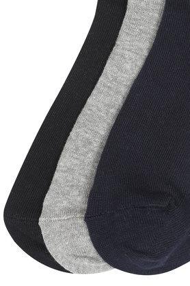 Mens Ankle Length Solid and Slub Socks - Pack Of 3