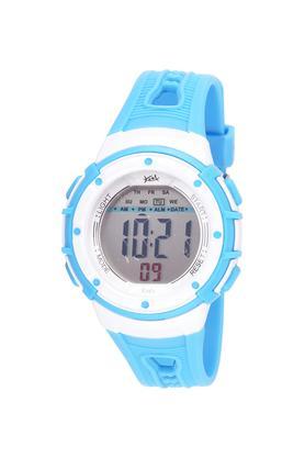 Unisex Plastic Grey Dial Digital Watch - KK210BL