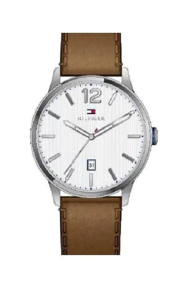 Mens White Dial Analogue Watch