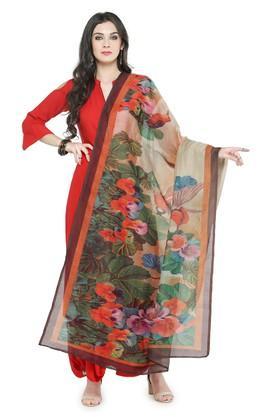 Womens Floral Print Dupatta