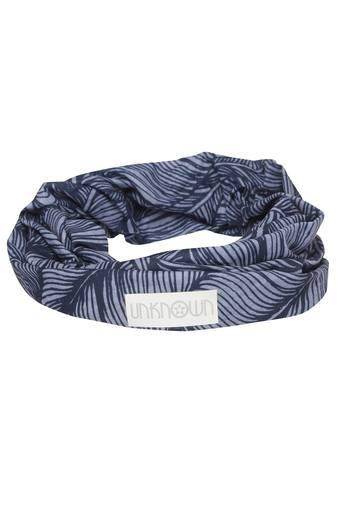 Womens Navy Blue Printed Headwear