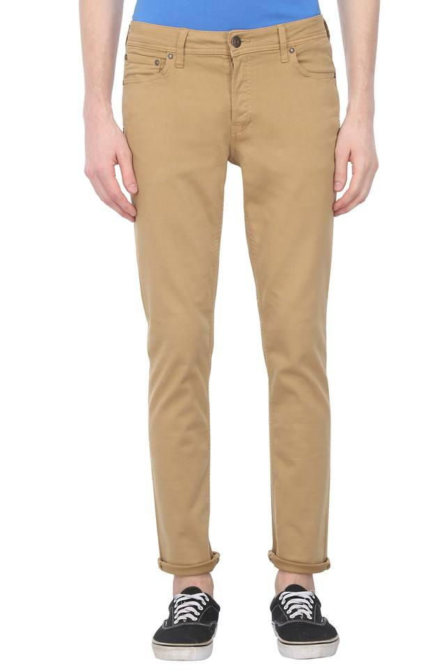 Mens 5 Pocket Solid Chinos
