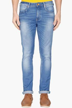 UNITED COLORS OF BENETTON Mens Skinny Fit 5 Pocket Heavy Wash Jeans