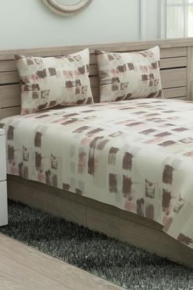D'DECORPrinted Double Bed Sheet With Pillow Cover