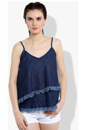 Womens Spaghetti Neck Assorted Top
