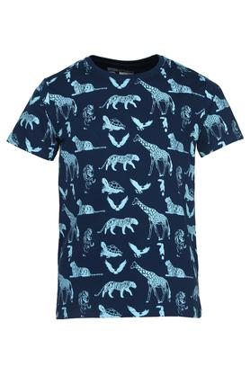 Boys Round Neck Printed T-Shirt