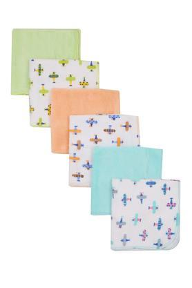 Kids Printed and Solid Napkins - Pack of 6