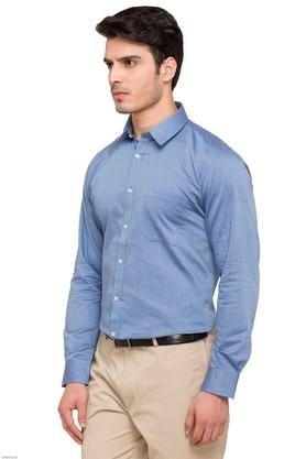Mens Self Pattern Formal Shirt