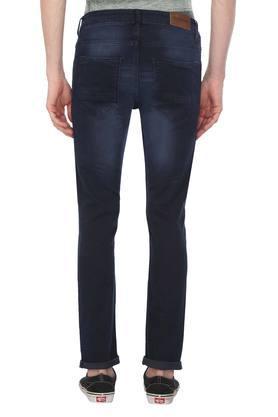 Mens Skinny Fit 5 Pocket Mild Wash Jeans