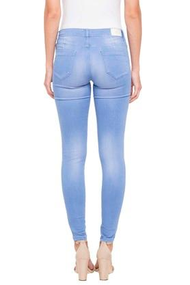 Womens 4 Pocket Ice Wash Jeans