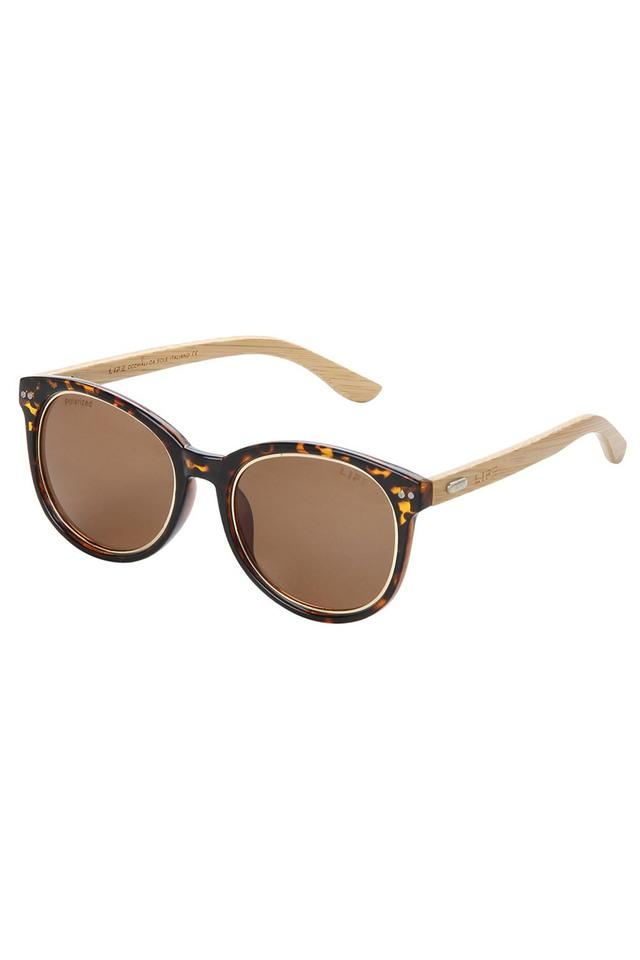Womens Full Rim Polarized Lens Round Sunglasses - LI069JO100D