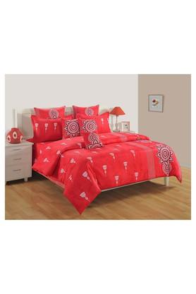 SWAYAMPrinted Double Bed Sheet, Comforter And Pillow Covers Set - 204584161_9607
