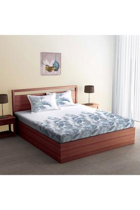 SPACESCotton Printed Double Bedsheet With 2 Pillow Covers - 204023090_9900