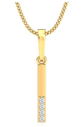 P.N.GADGIL JEWELLERS Womens The 'I' Pendant DJPD-97