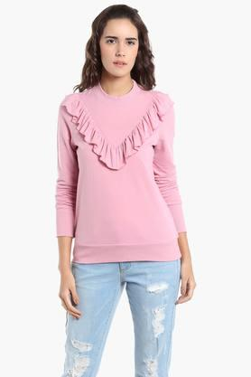VERO MODA Womens Round Neck Solid Sweater - 203108995
