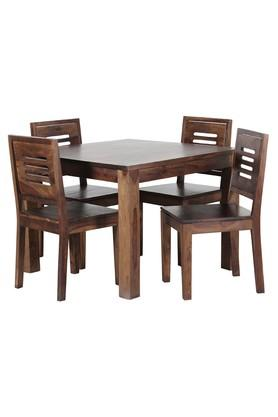 Brown Jake 4 Seater Dining Set